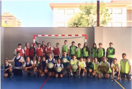 Partido de Colpbol del Colegio Las Rosas de Madrid_1