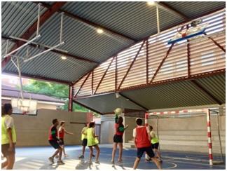 Partido de Colpbol del Colegio Las Rosas de Madrid_3