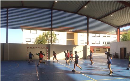 Partido de Colpbol del Colegio Las Rosas de Madrid_4