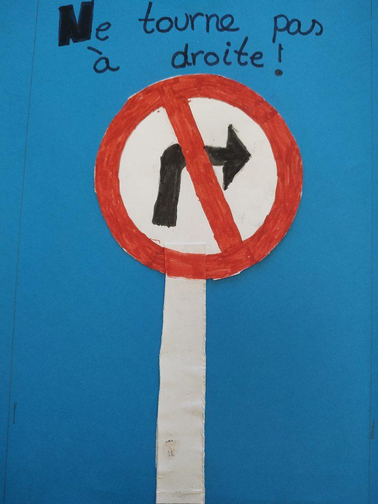 Mural señales de tráfico francés Primaria del Colegio Las Rosas de Madrid_7