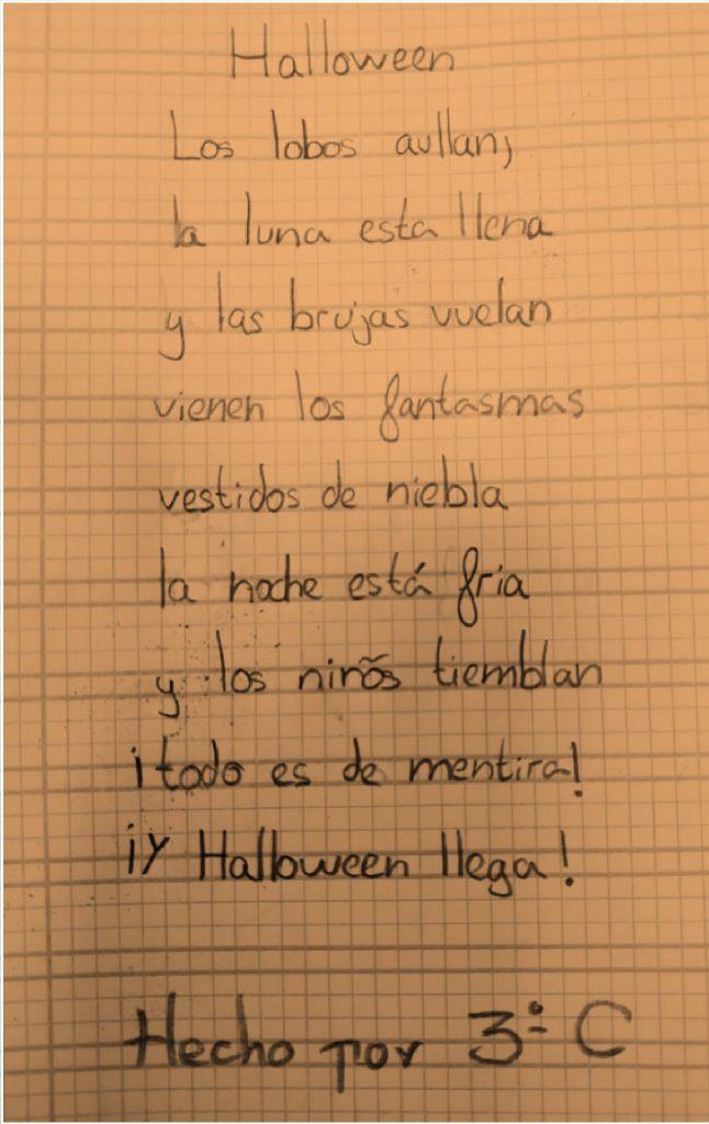 Poesía de 3º de Primaria del Colegio Las Rosas de Madrid_1