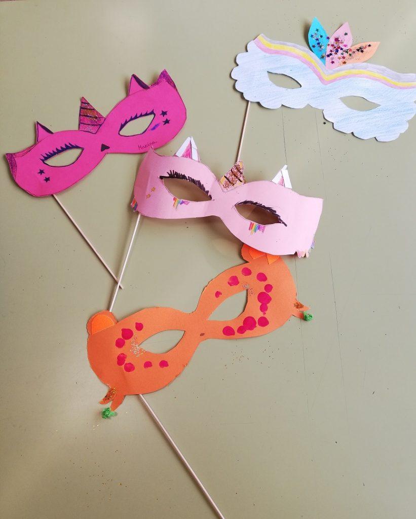 Manualidades de Carnaval de 4º de Primaria del Colegio Las Rosas de Madrid_2