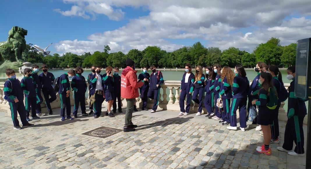 Excursión al Retiro de Primero de Secundaria del Colegio Las Rosas de Madrid_7